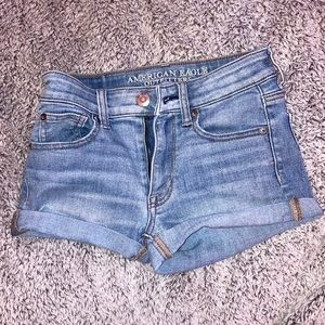 light blue jean shorts!